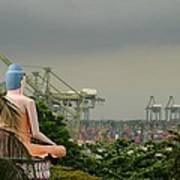 Meditating Buddha Views Container Seaport Singapore Poster