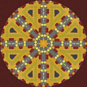 Meditating On Life - Mandala Poster