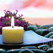 Meditation Candle Poster by Olivier Le Queinec