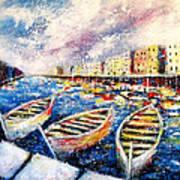 Mediterranean Port Colours Poster