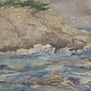 Mediterranean Sea Rocks Poster