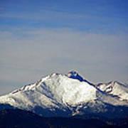 Meeker And Longs Peak Massive In Snow Poster