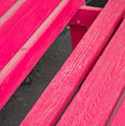 Wimberley Texas Market Red Bench Poster