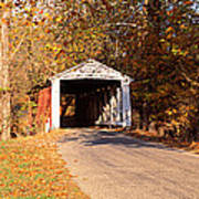 Melcher Covered Bridge Parke Co In Usa Poster