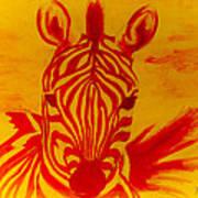 Mellow Yellow Zebra Poster
