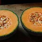 Melon Halves Poster