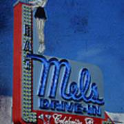 Mels Drive In Celebrity Bar Poster by Janice Rae Pariza