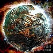 Melting Planet Poster by Bernard MICHEL
