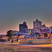 Cityscape - Skyline - Memphis at Dawn Poster