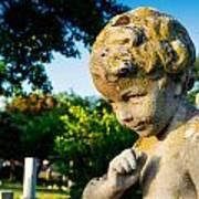Memphis Elmwood Cemetery - Boy Angel Poster