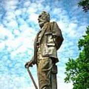 Memphis Elmwood Cemetery - Man With Cane Poster
