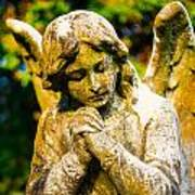 Memphis Elmwood Cemetery - Praying Angel Poster