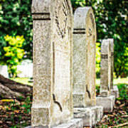 Memphis Elmwood Cemetery Monument - Four In A Row Poster