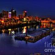 Memphis Tn Just Before Dawn Poster