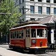 Memphis Trolley On Main Street Poster