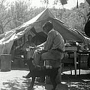 Men At Mining Camp Poster