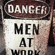 Men At Work Sign Poster