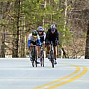 Men In A Bike Race Poster by Susan Leggett