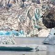 Mendenhall Glacier Detail Juneau Alaska Poster