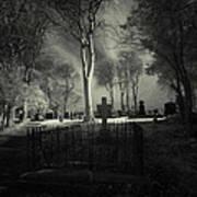 Menlo Cemetery Poster by Peter Skelton