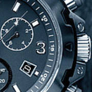 Mens Watch Close Up Poster