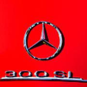 Mercedes 300 Sl Emblem -0121c Poster