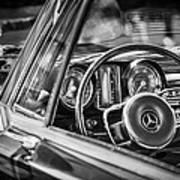 Mercedes-benz 250 Se Steering Wheel Emblem Poster