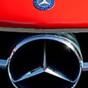 Mercedes-benz 300 Sl Grille Emblem Poster