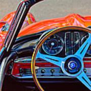 Mercedes-benz 300 Sl Steering Wheel Emblem Poster