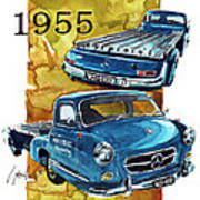 Mercedes Benz Racing Car Transport Poster