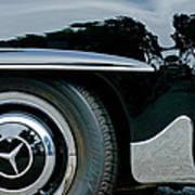 Mercedes-benz Wheel Emblem Poster