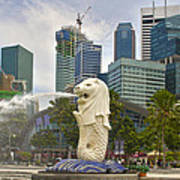 Merlion Park In Singapore Poster