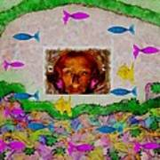 Mermaid In Her Cave Poster