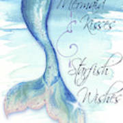 Mermaid Tail I (kisses And Wishes) Poster