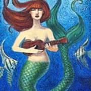 Mermaid Ukulele Angels Poster