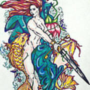Mermaid Warrior Poster