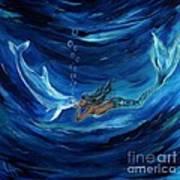 Mermaids Dolphin Buddy Poster