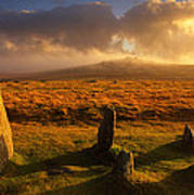 Merrivale Stone Rows Poster