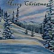 Merry Christmas - Winter Landscape Poster