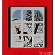 Merry Christmas Deer Poster
