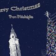 Merry Christmas From Philly Poster by Photographic Arts And Design Studio