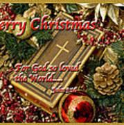 Merry Christmas - John 3 V16 Poster