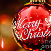 Merry Christmas Ornament Poster