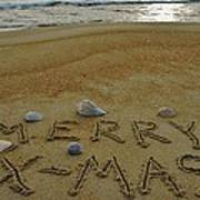 Merry Christmas Sand Art 1 12/25 Poster