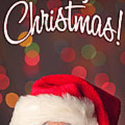 Merry Christmas Santa Card Poster