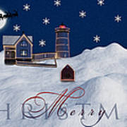 Merry Christmas Poster by Susan Candelario