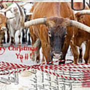 Longhorns Merry Christmas Ya'll Poster