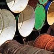 Metal Barrels 1 Poster