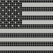 Metal Mesh Usa Flag Poster