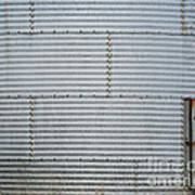 Metal Silo With Door Poster